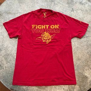Rare Star Wars USC Trojan Yoda Fight On T-shirt